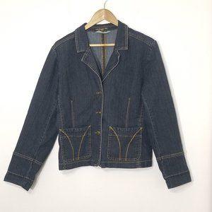 Vintage MC   Denim Jean Jacket Size 15 Stretch